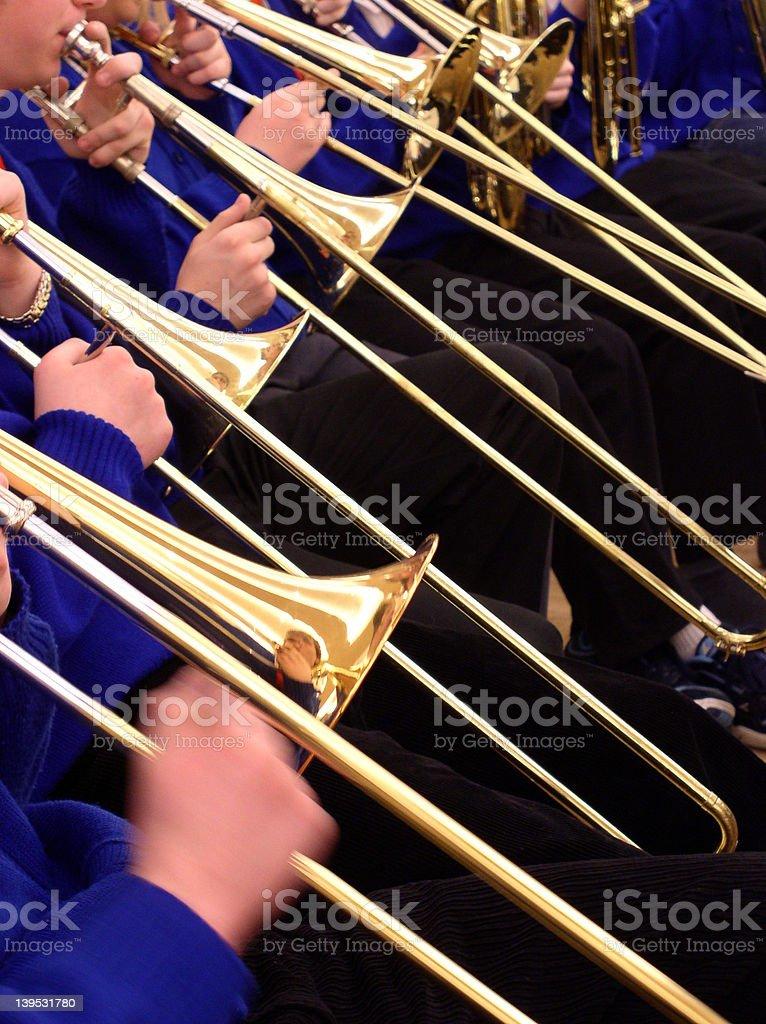 Trombone Section stock photo