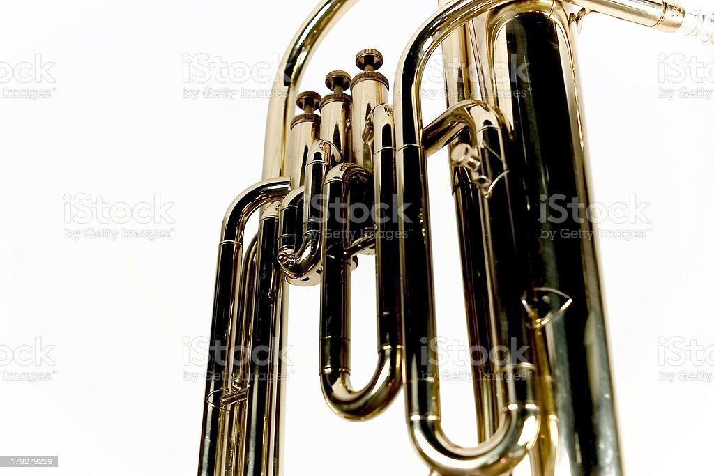 trombone valves stock photo