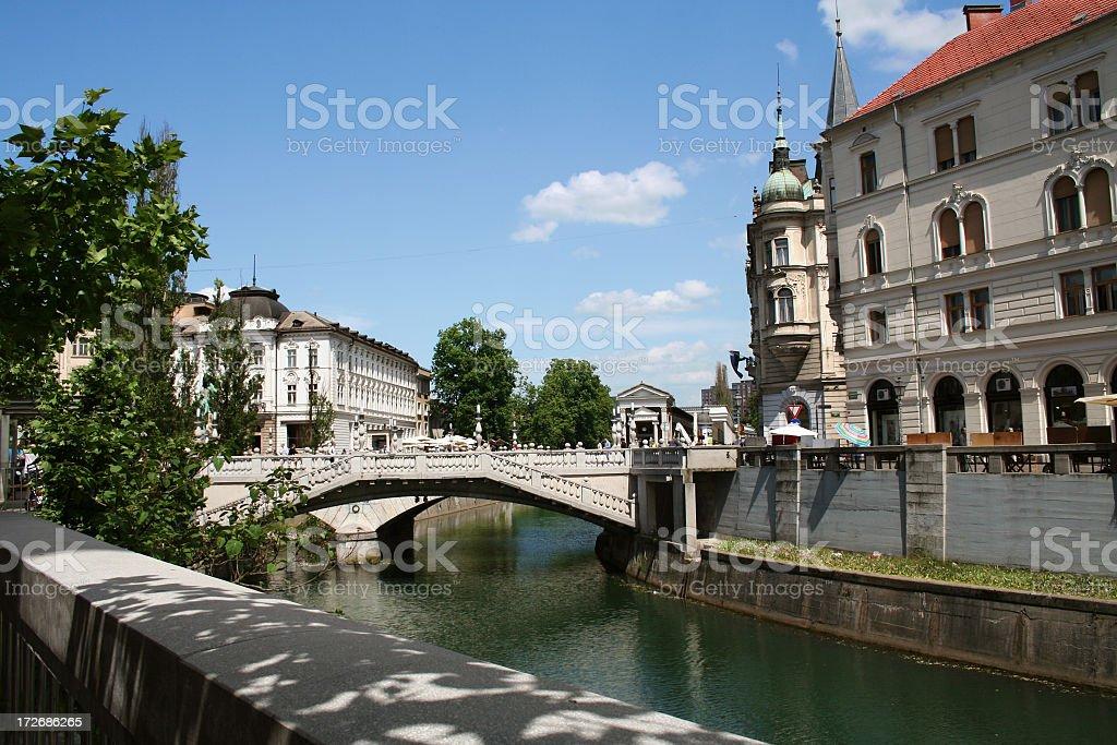 Tromostovje Ljubljana royalty-free stock photo