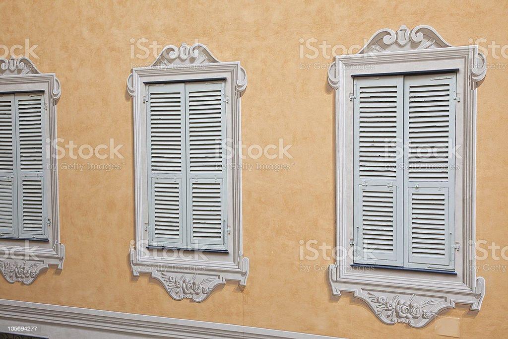 Trompe L'Oeil in Menton Provence stock photo