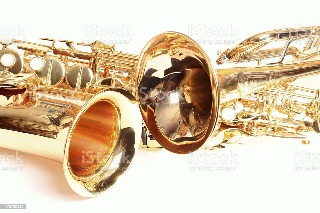 Trompete and Saxophone royalty-free stock photo