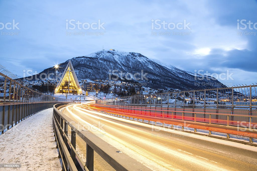 Tromso Arctic Cathedral Sweden royalty-free stock photo