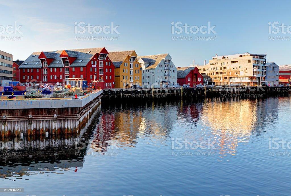 Tromso building - Norway stock photo