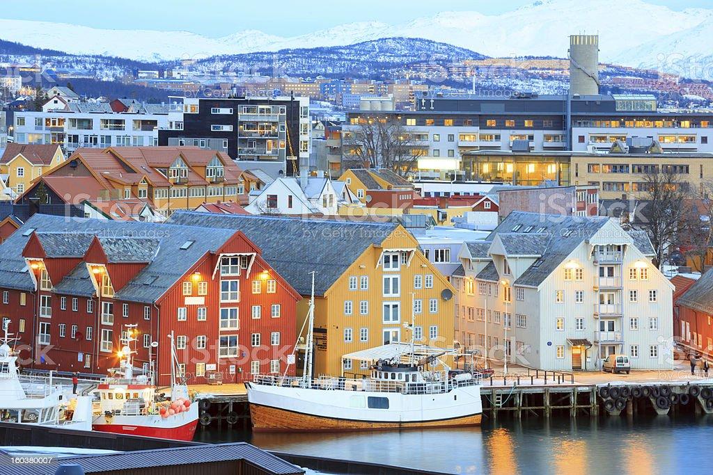 Tromso Cityscape royalty-free stock photo