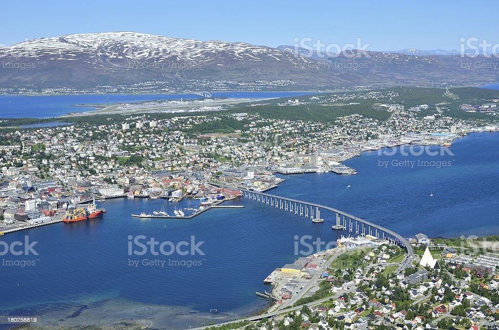 Tromso landscape in Norway stock photo