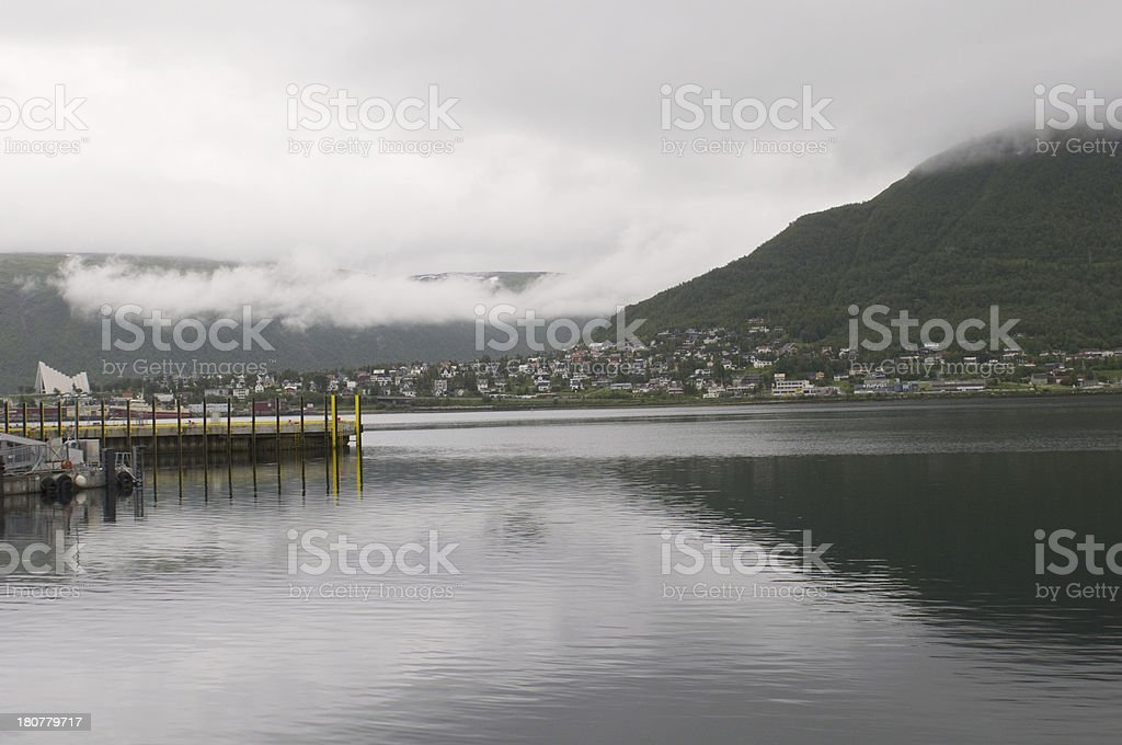 Tromso. landscape of Norwegian fjord. royalty-free stock photo