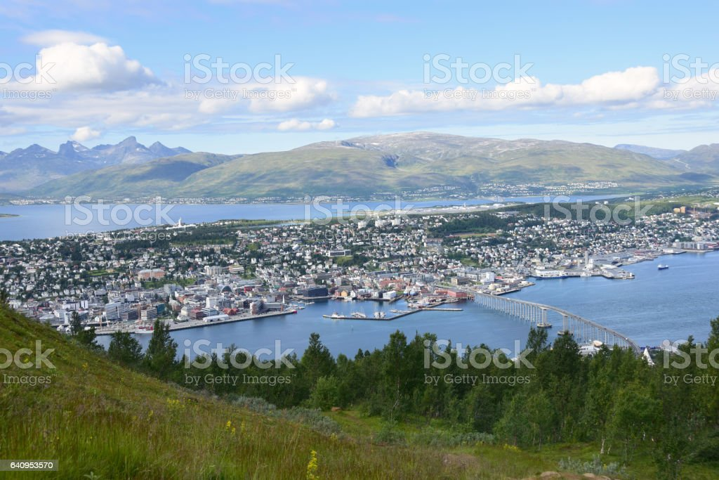 Tromso, Norway and Surrounding Countryside stock photo