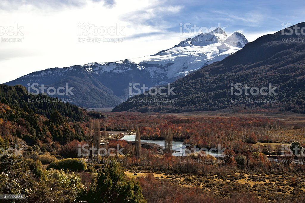 Tronador volcano, between Argentina and Chile, Patagonia, Southern Volcanic Zone stock photo