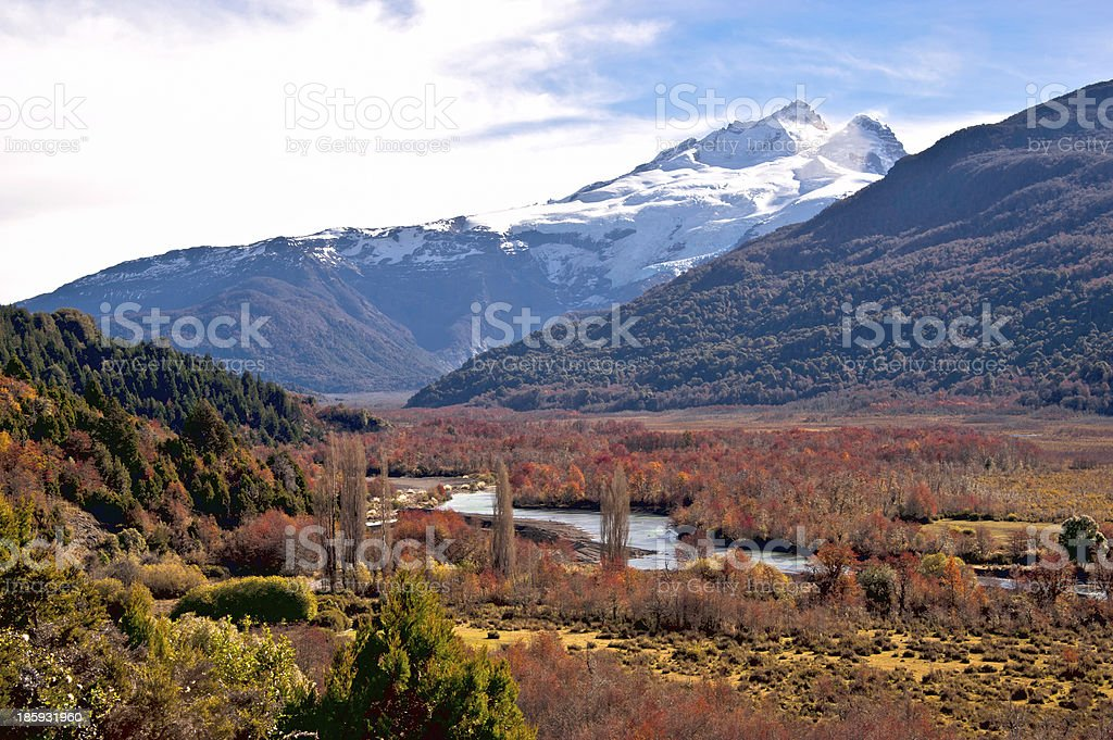 Tronador volcano, border Argentina and Chile, Patagonia stock photo