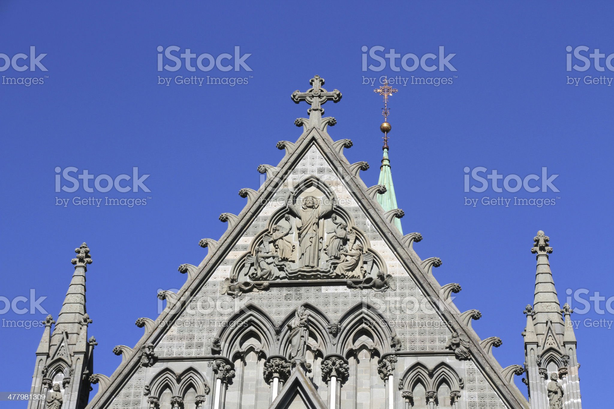 Trondheim Cathedral royalty-free stock photo