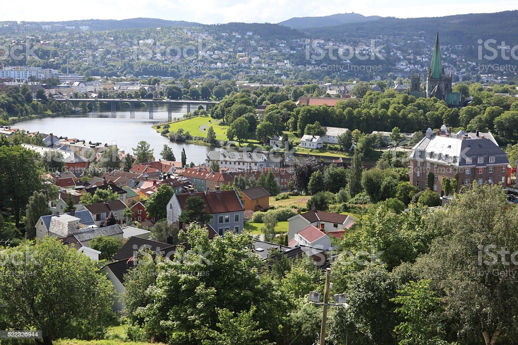 Trondheim city, Norway stock photo