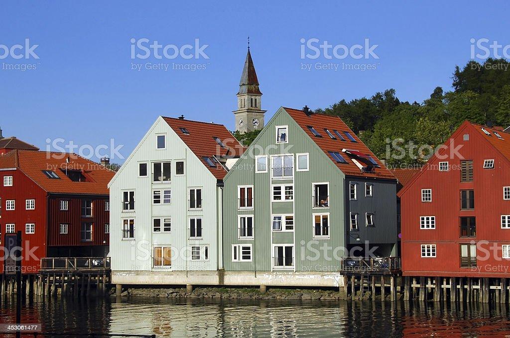 Trondheim in Norway stock photo