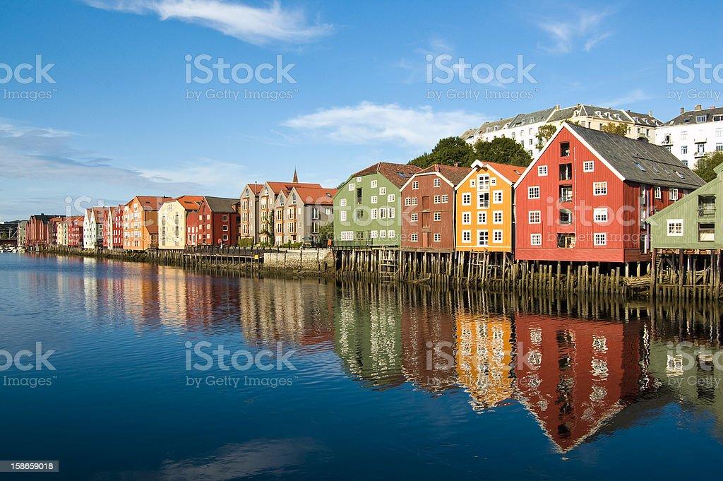 Trondheim old Town royalty-free stock photo