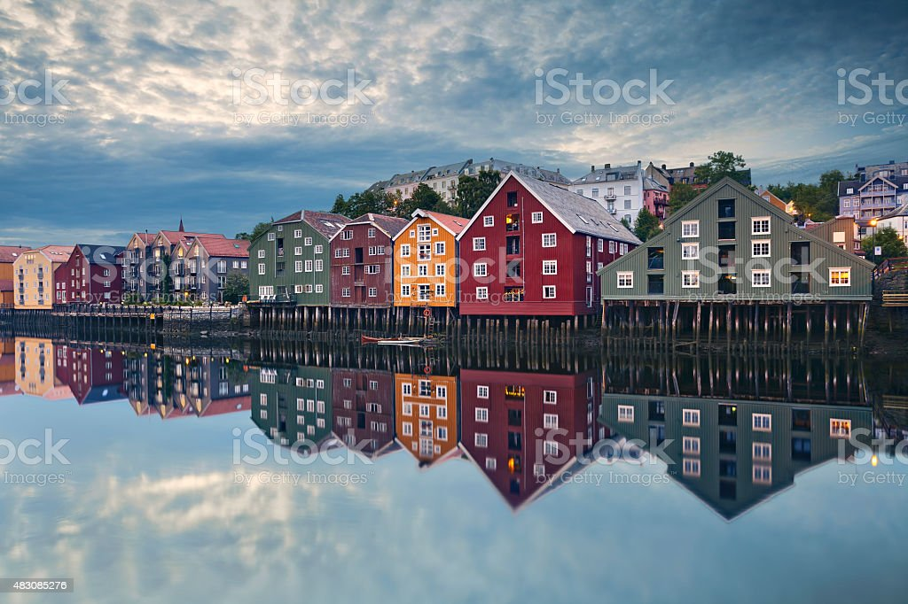 Trondheim. stock photo