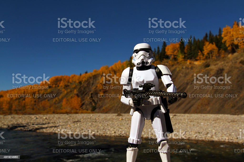 Trooper By The River stock photo