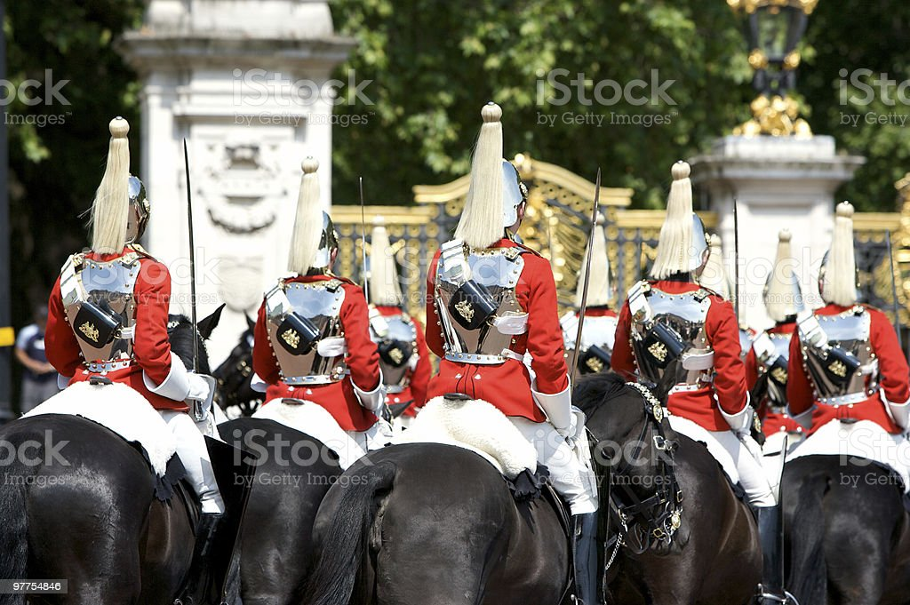 Trooping the Colour, Buckingham Palace stock photo