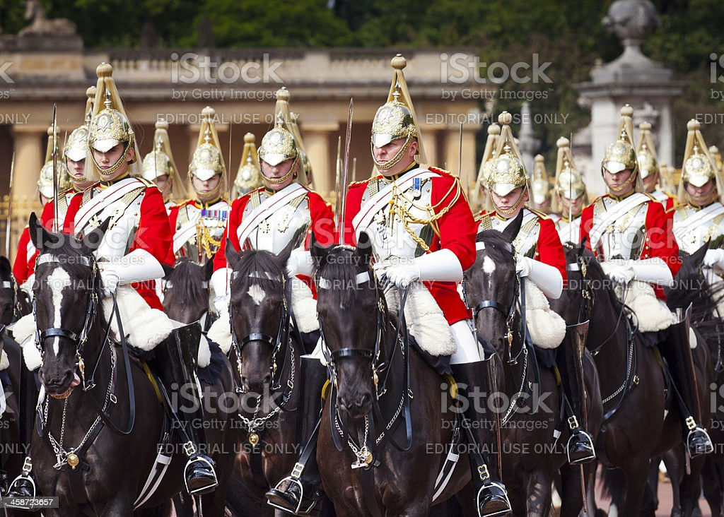Trooping the Colour Ceremony, Westminster, London. stock photo