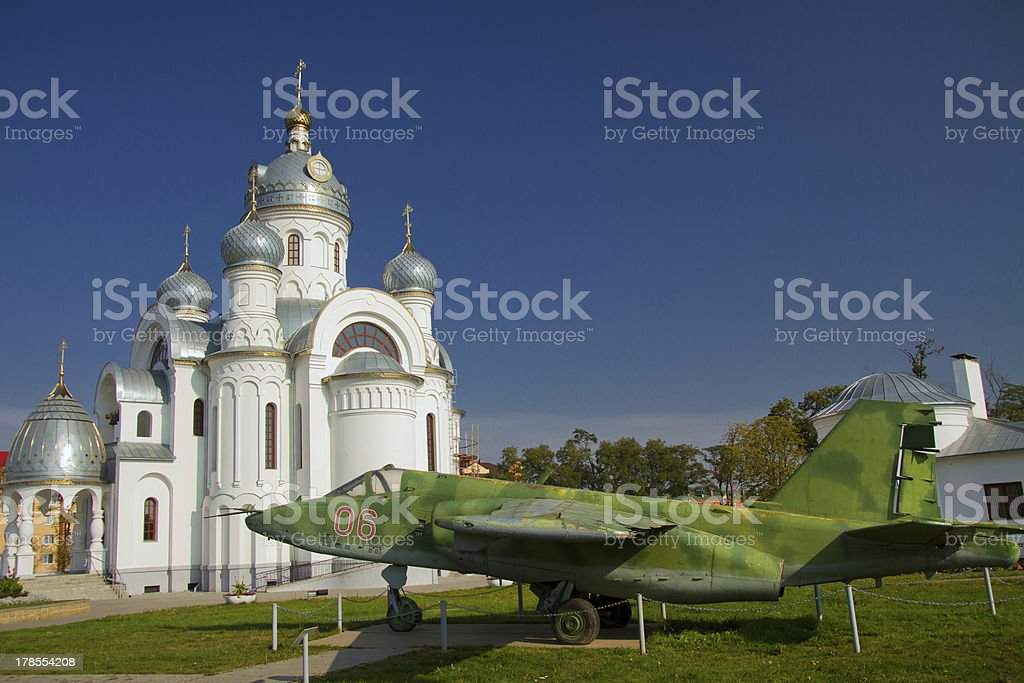 troops at the church royalty-free stock photo