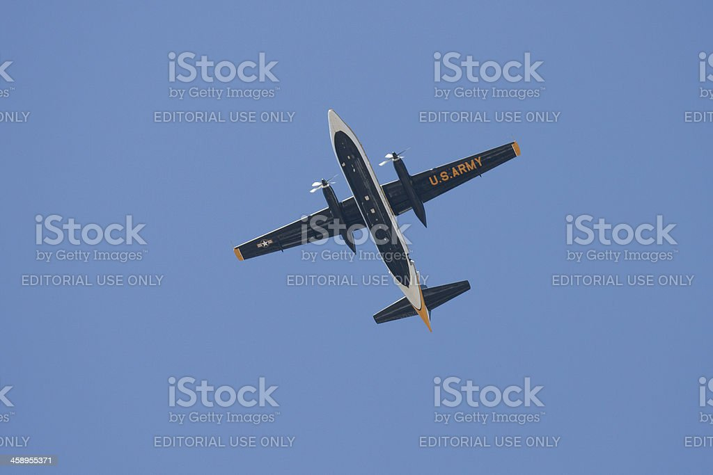 C-31A Troopship In Flight royalty-free stock photo