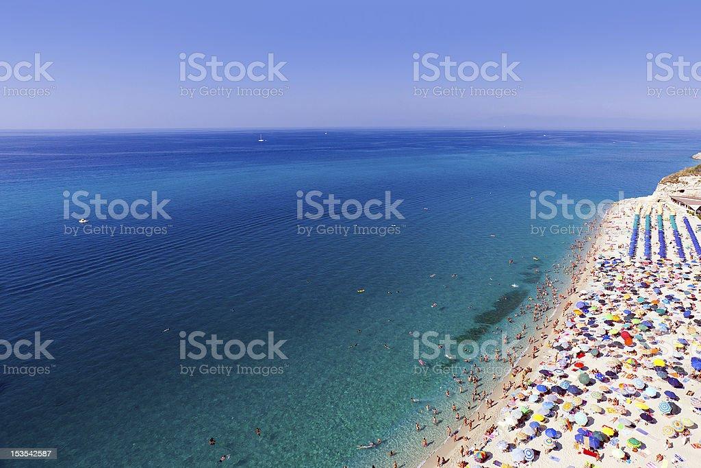 Tropea beach stock photo