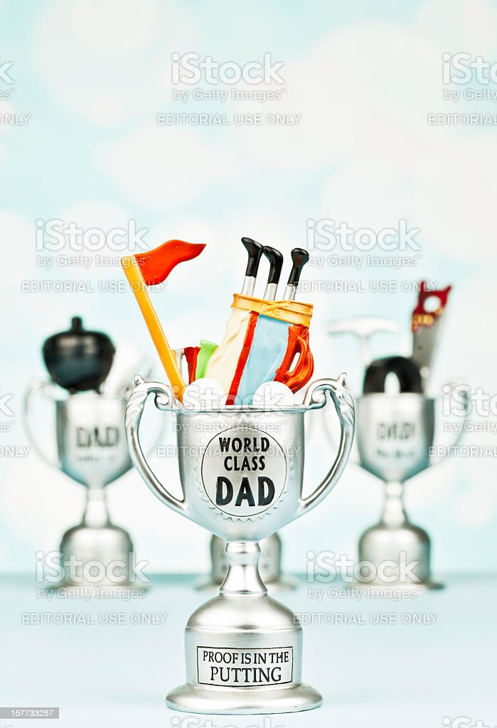 Trophies for Father's Day royalty-free stock photo
