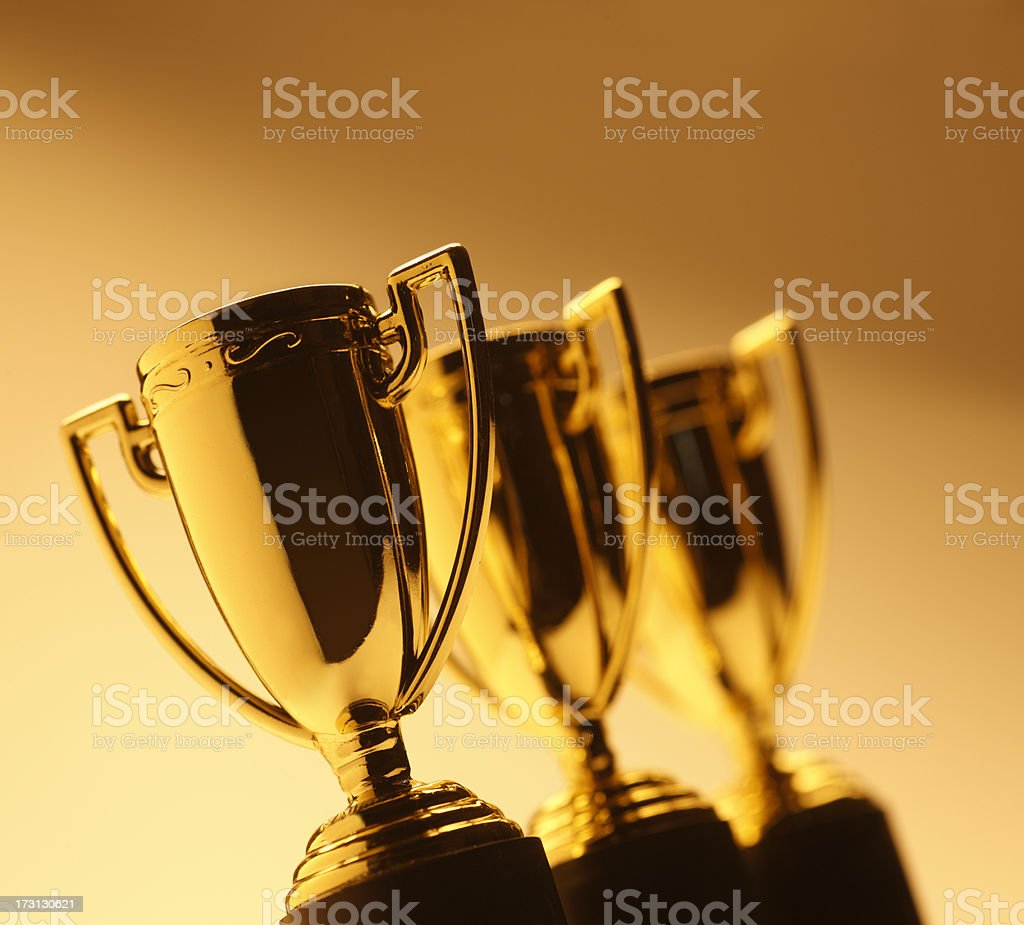 Trophies stock photo