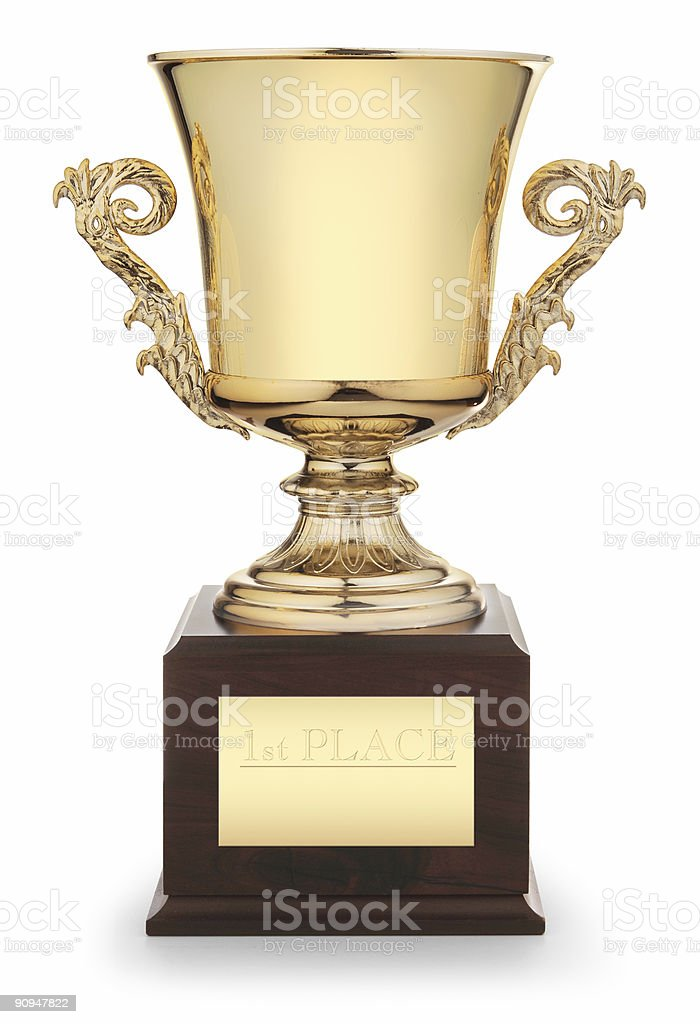 trophy cup stock photo