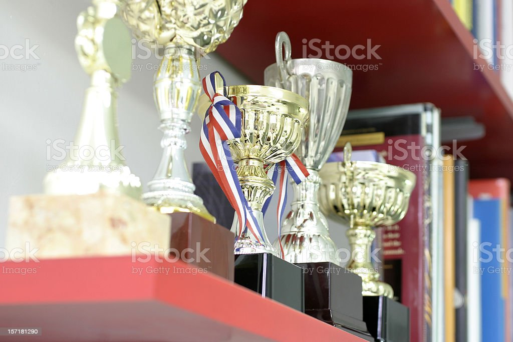Trophy Display royalty-free stock photo