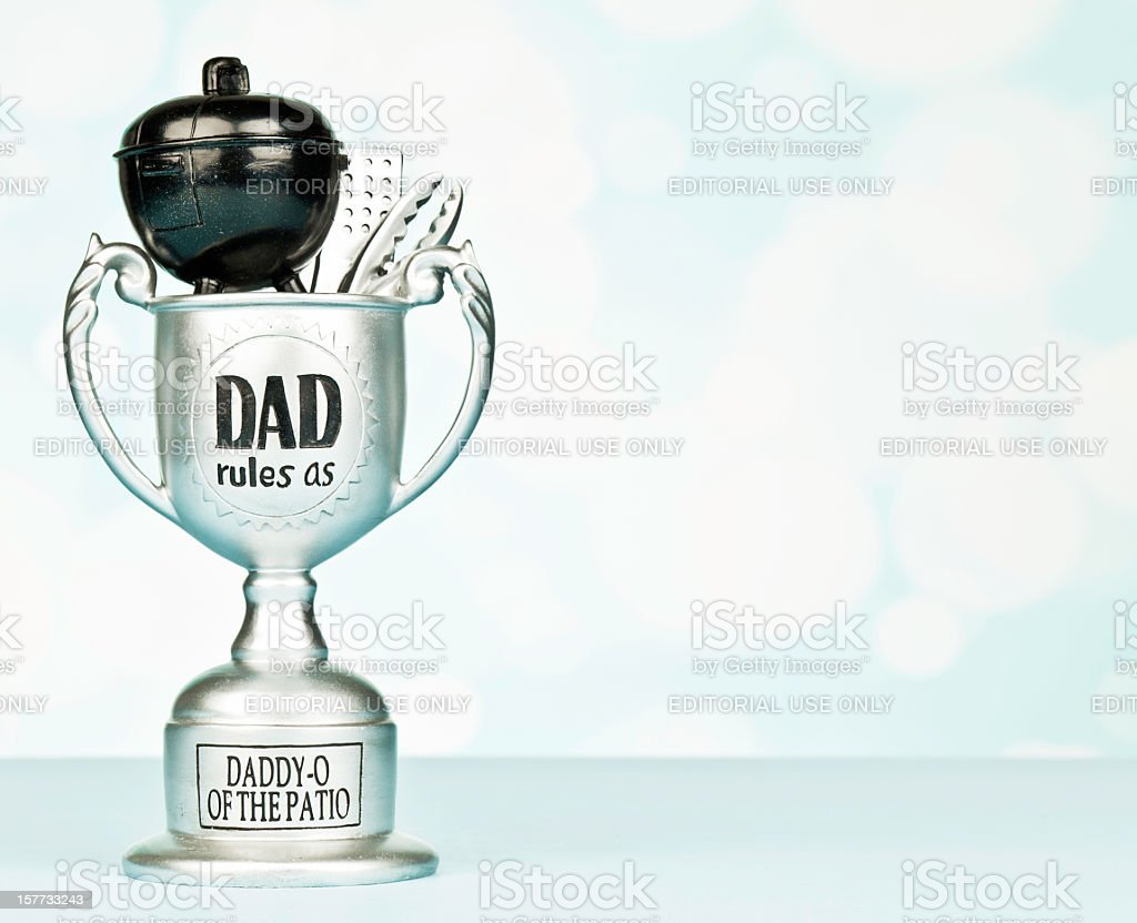 Trophy For Daddy O Of The Patio Royalty Free Stock Photo