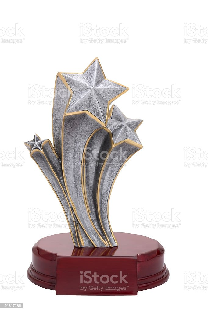 Trophy of shooting stars royalty-free stock photo