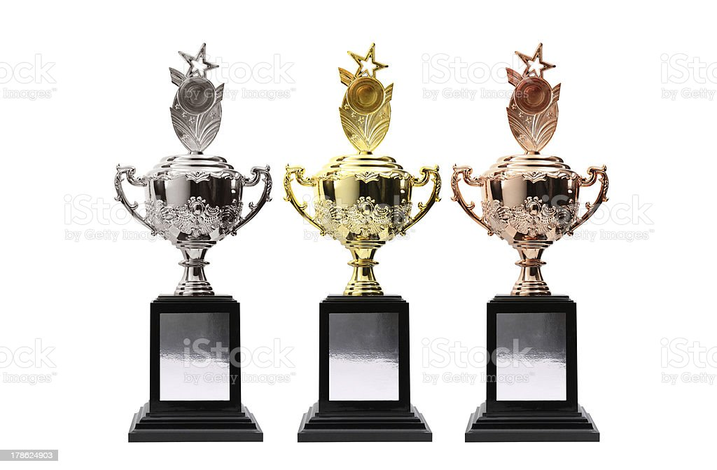 3 trophy royalty-free stock photo
