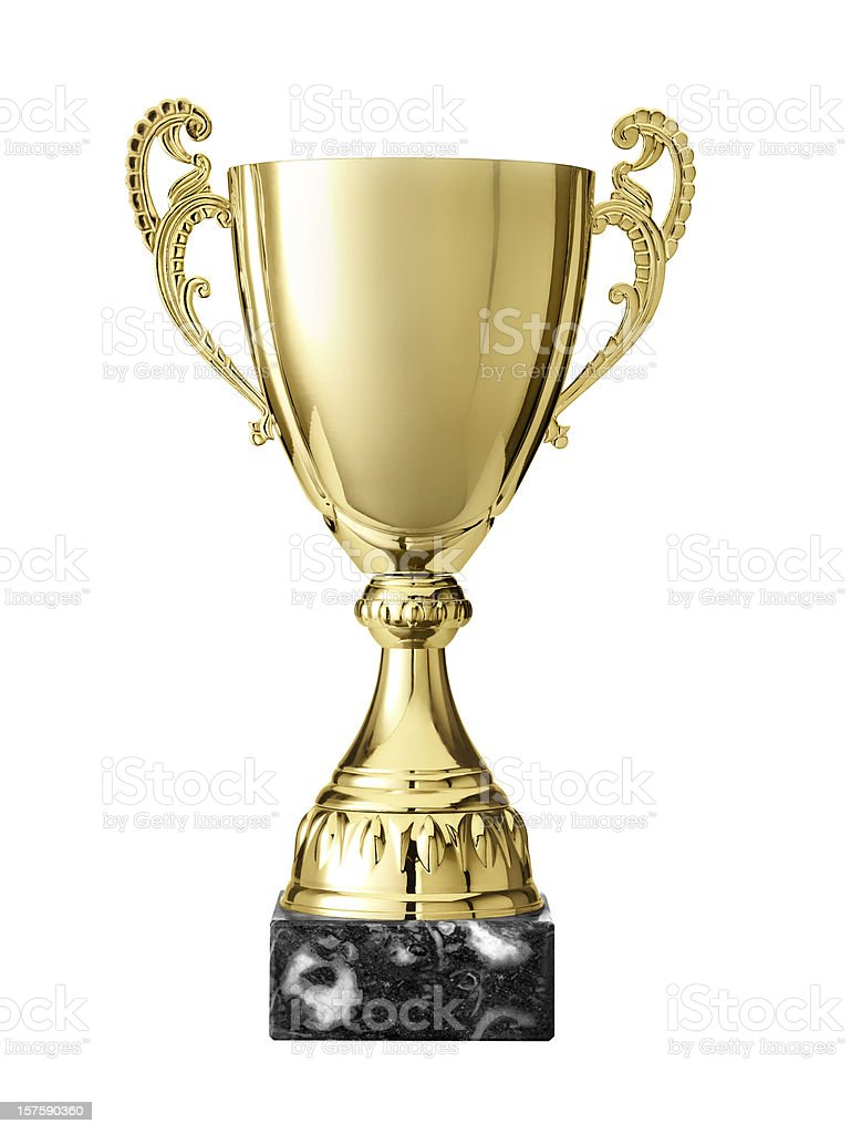 Trophy with path stock photo