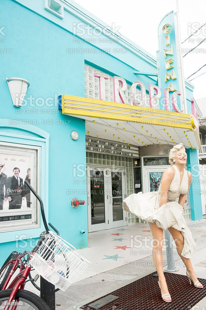 Tropic Cinema, Key West. stock photo