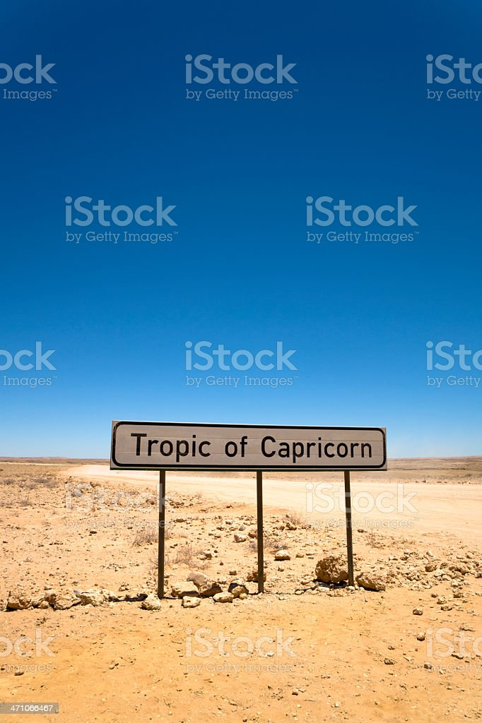 Tropic of Capricorn at High Noon in December royalty-free stock photo