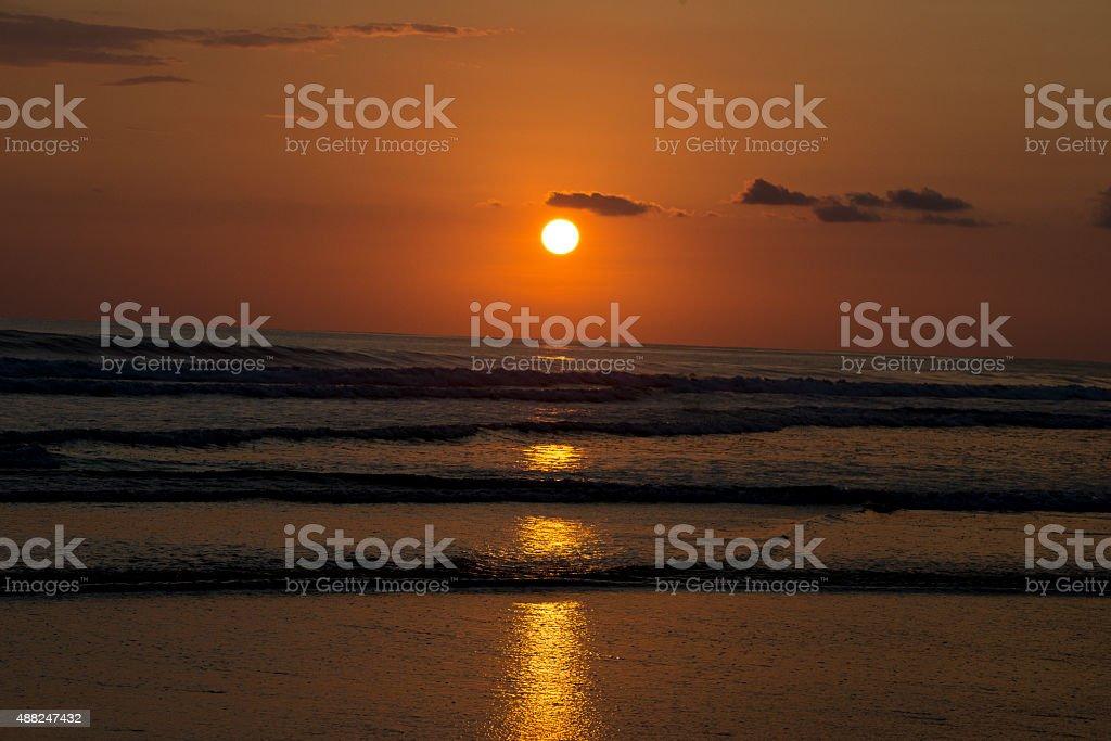 Tropica Sunset in Puntarenas, Costa Rica stock photo