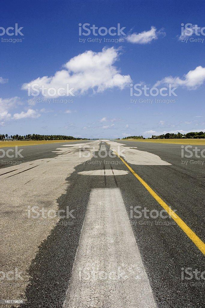 tropical airport runway royalty-free stock photo