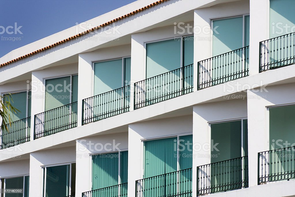 Tropical Apartments with Balconies royalty-free stock photo
