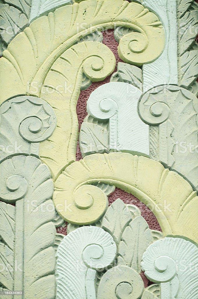 Tropical Art Deco Palm Tree Pattern stock photo