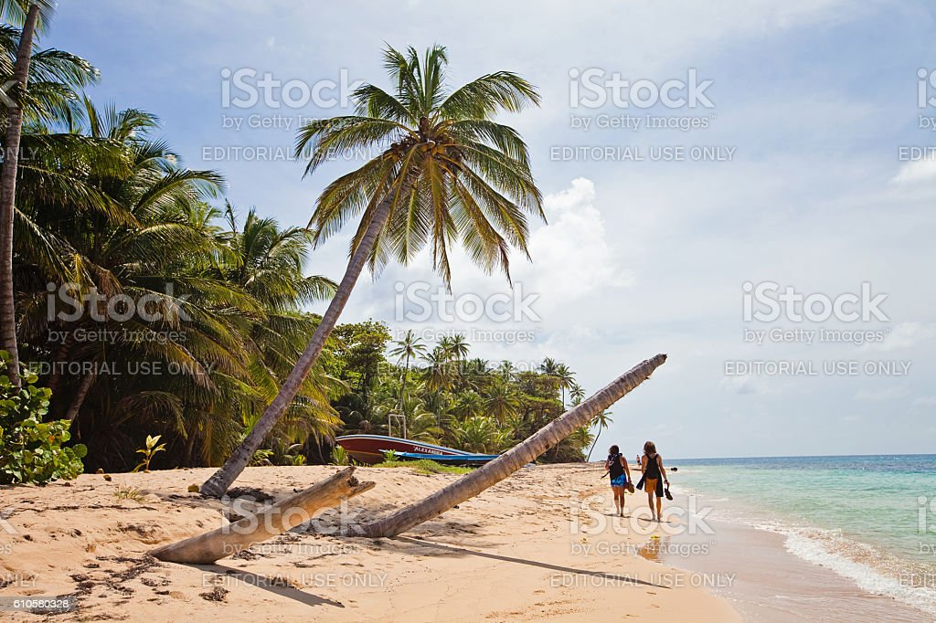 Tropical Backpacking stock photo