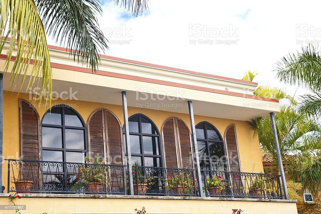 Tropical Balcony royalty-free stock photo