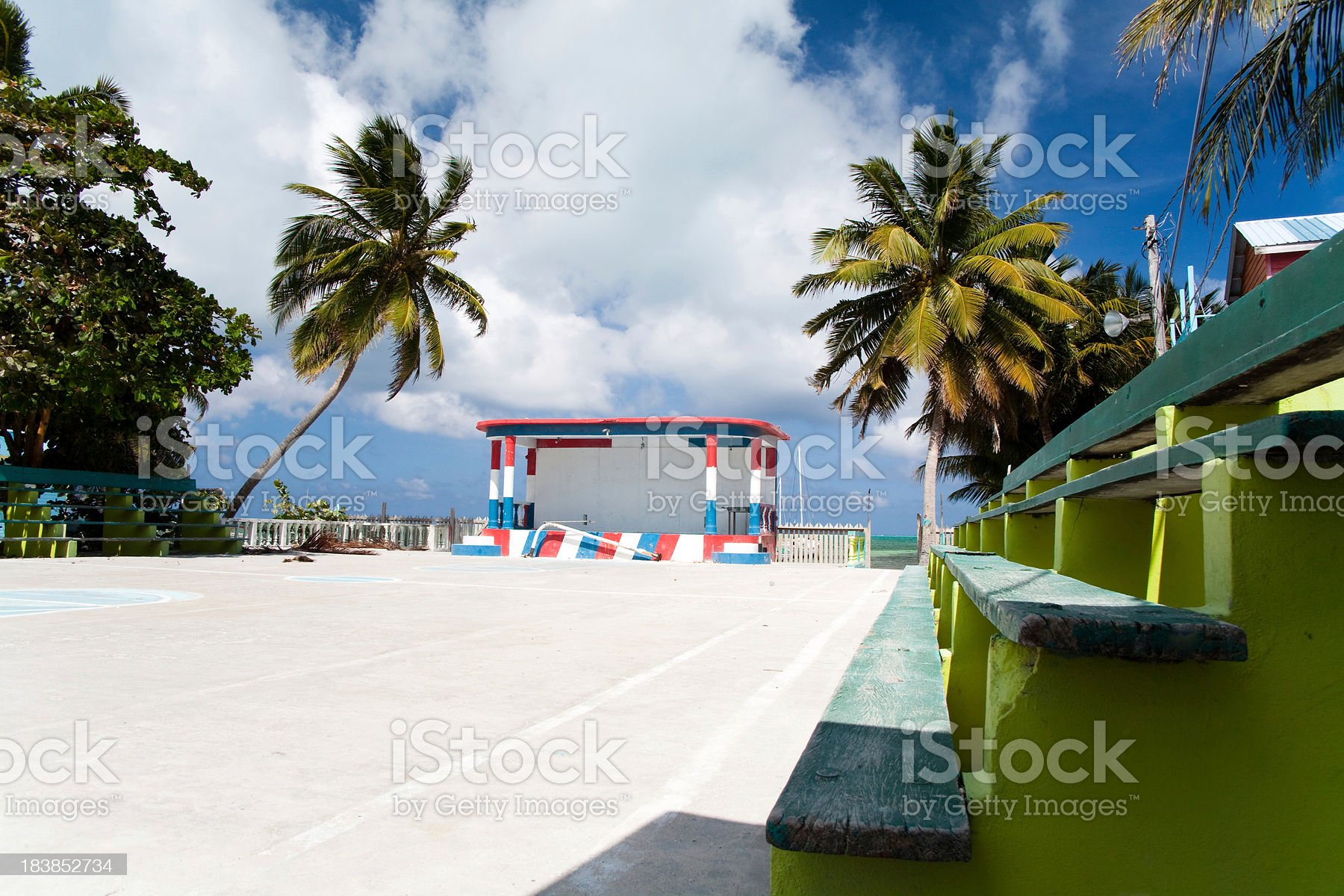 tropical basketball court royalty-free stock photo