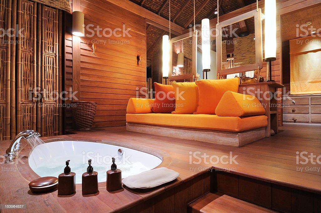Tropical bathroom royalty-free stock photo