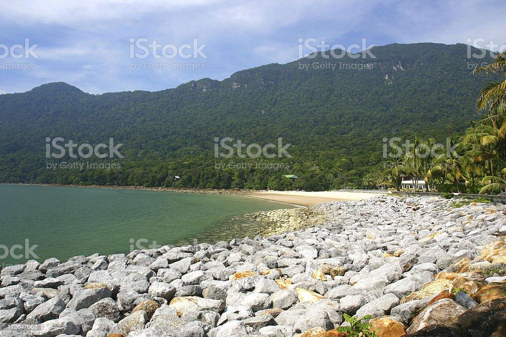 Tropical Bay royalty-free stock photo