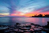 Tropical Beach and Ocean Sunset, Kauai, Hawaii