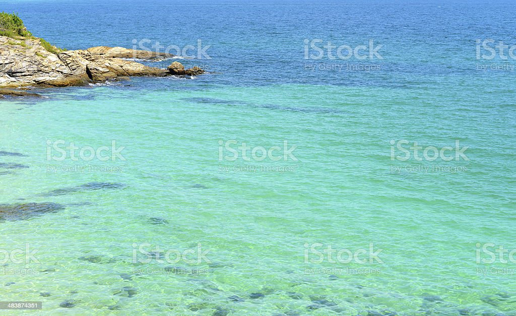 Tropical beach and sea in koh samed island Thailand stock photo