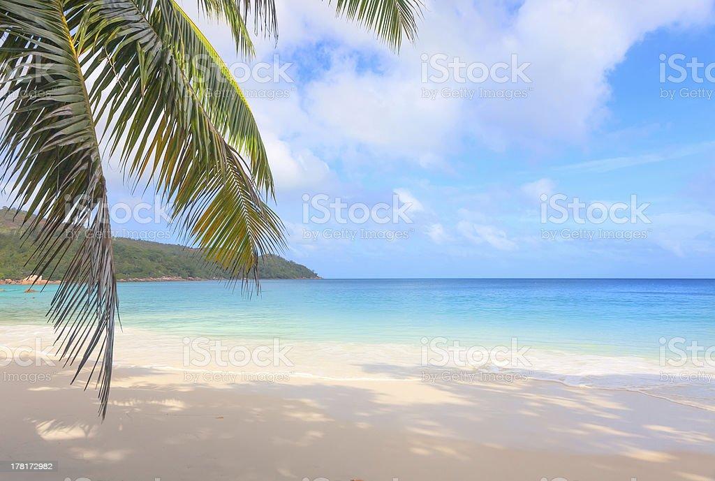Tropical beach Anse Lazio, Seychelles royalty-free stock photo