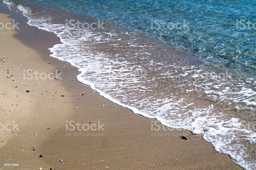 Tropical beach as background stock photo