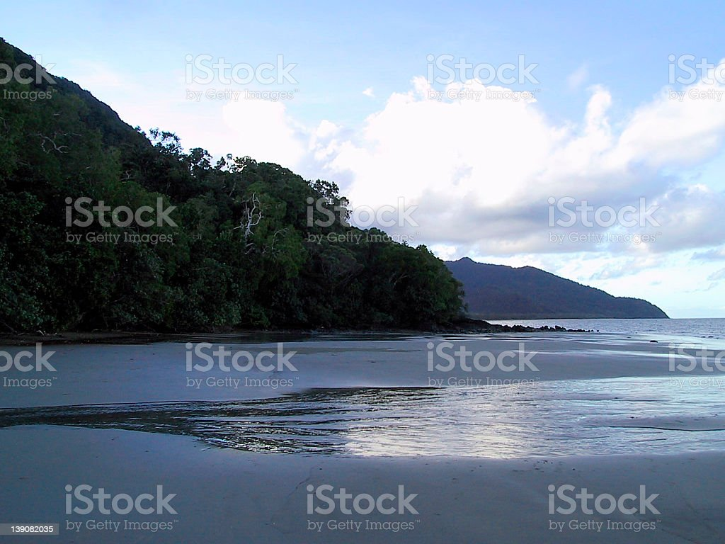 Tropical Beach at Dusk royalty-free stock photo
