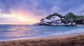 Tropical Beach at Sunrise - Tayrona Natural National Park, Colombia