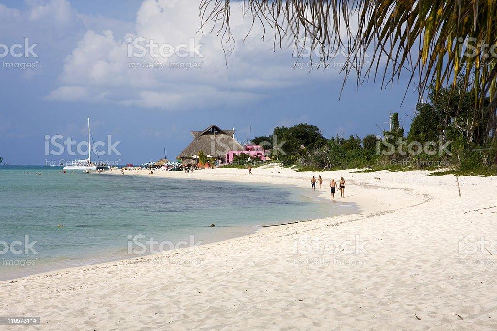 Tropical Beach Club stock photo